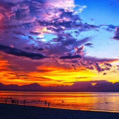 Coucher de soleil paysage 548x369
