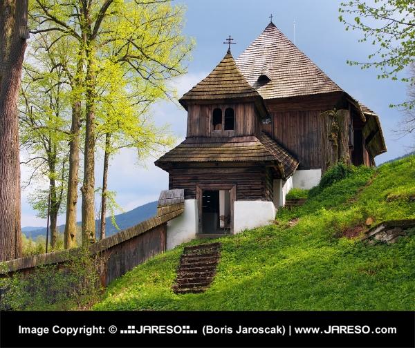 Rare unesco church in lestiny slovakia